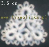 Gwiazdki - �nie�ynki z frywolitki
